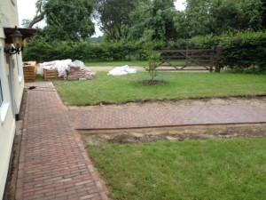 clay paving path