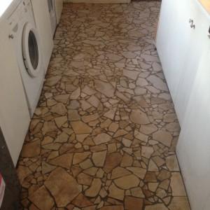 Broken travetine mosaic tiles